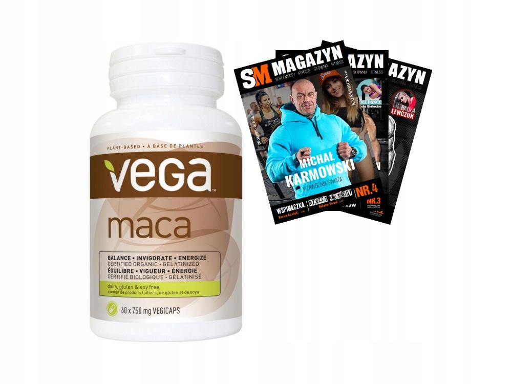 VEGA MACA 750 mg 60 kaps KORZEŃ WITAMINY ZDROWIE