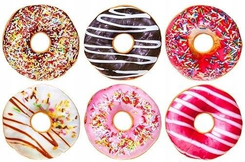 Poduszka pluszowa Donut 24 cm - wzór do wyboru