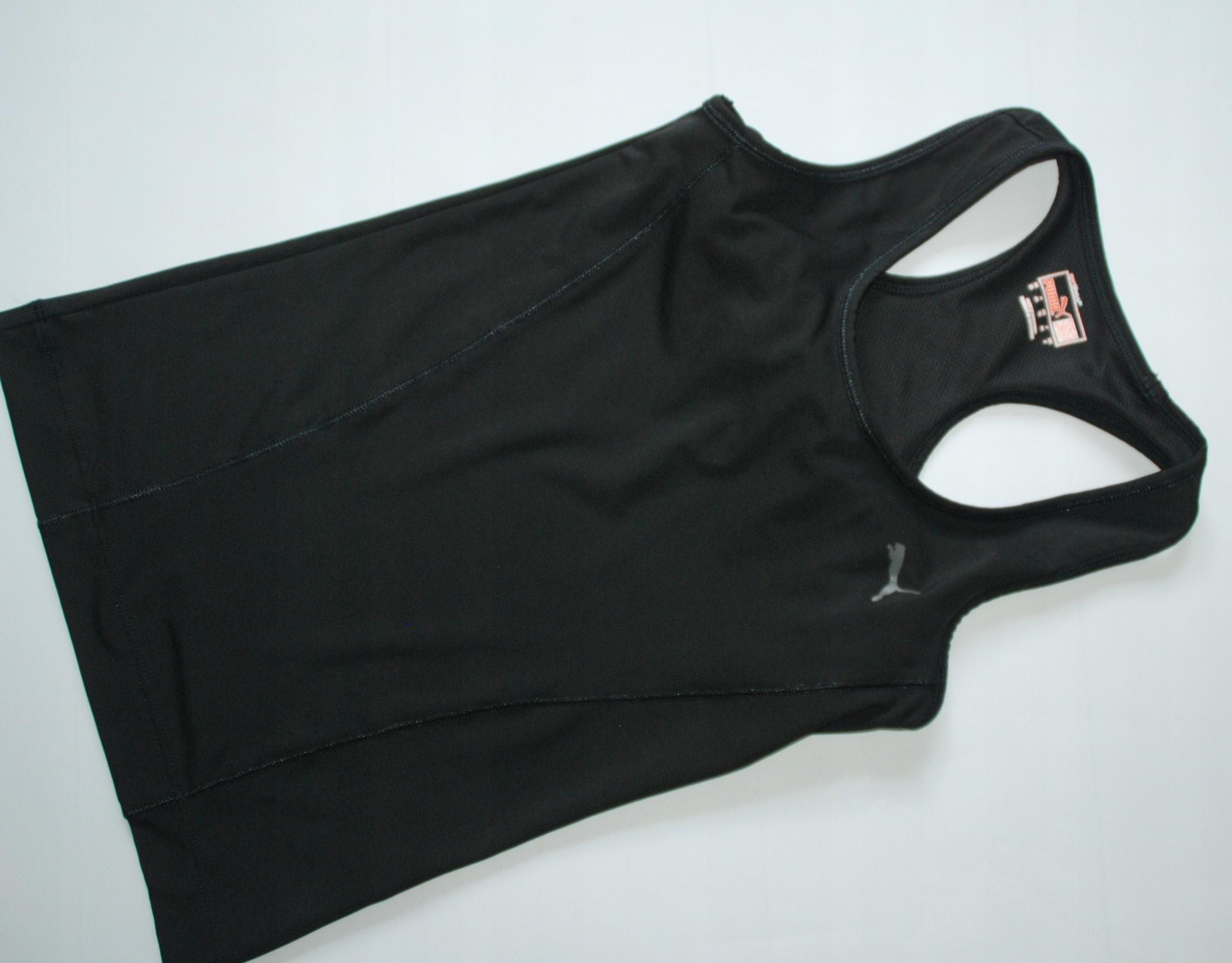 PUMA XS czarna stretch koszulka idealna