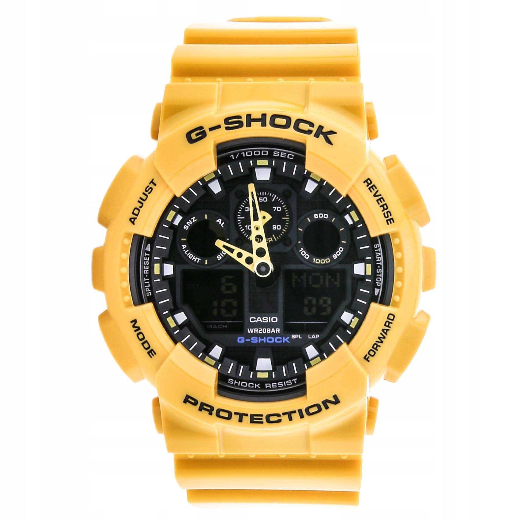 Zegarek CASIO G-SHOCK GA-100A-9AER stoper timer