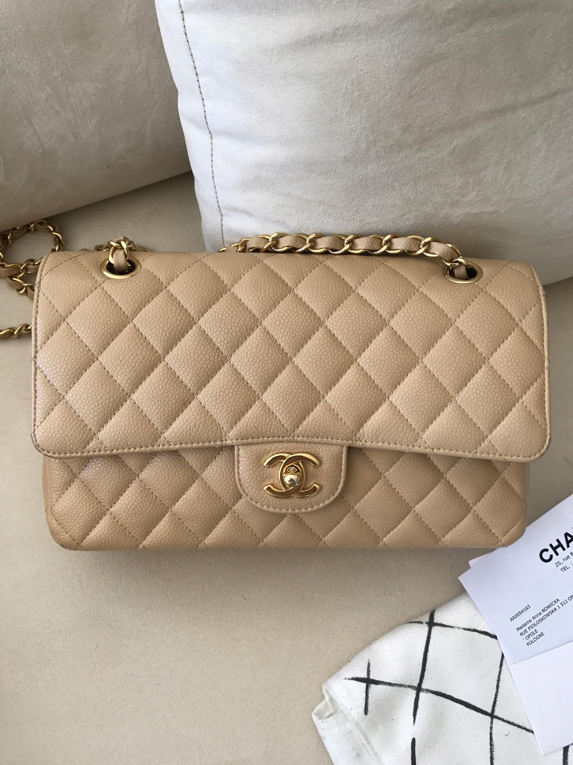 1bdce109ab6bd Chanel Flap Bag Medium z rachunkiem i pudełkiem - 7457366525 ...