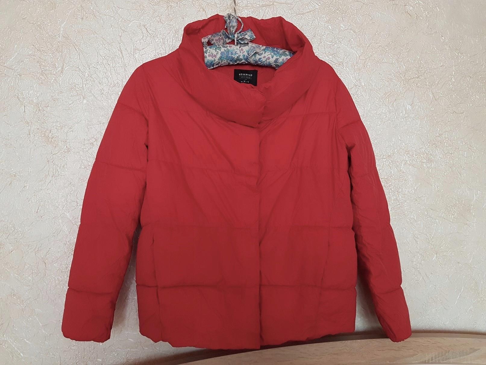 RESERVED wiosenna kurtka z kominem czerwień S M