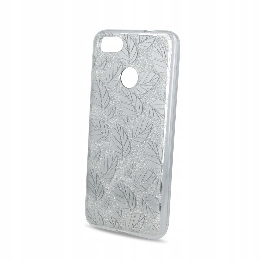 Nakładka Fashion Glitter Leaves2 do iPhone X srebr