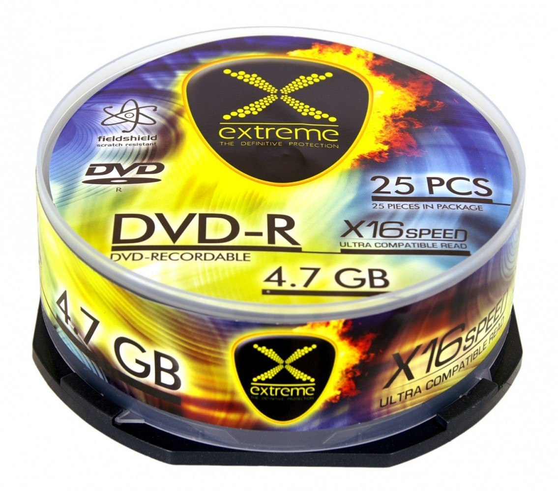 DVD-R 4,7 GB x16 CAKE BOX 25