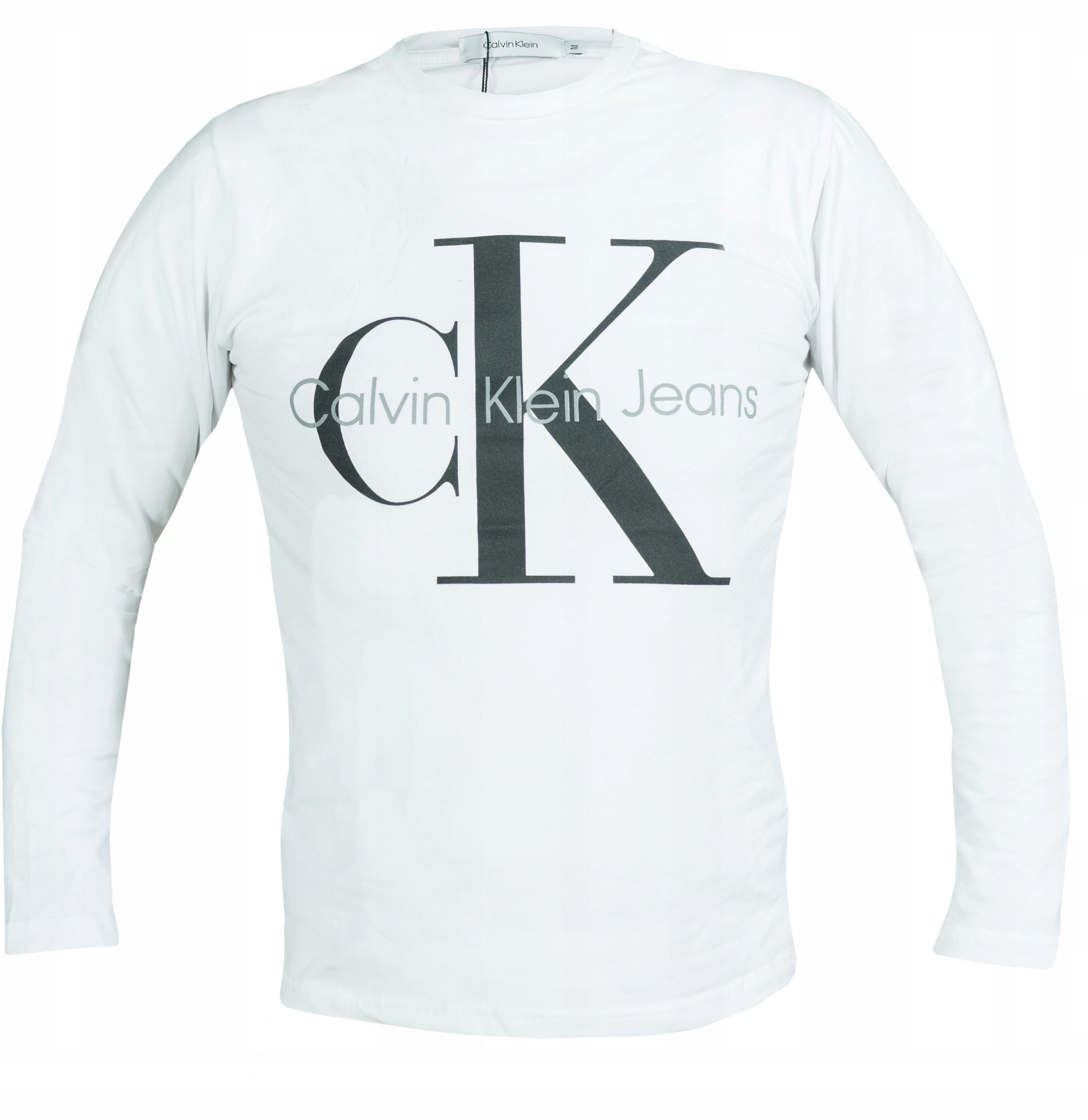 CALVIN KLEIN LONGSLEEVE MĘSKI BIAŁY CK logo M