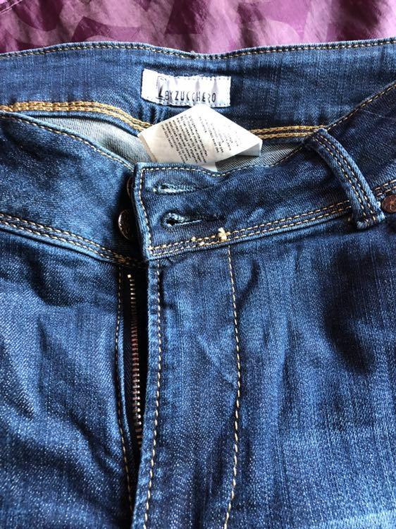 Spodnie damskie jeansowe XL