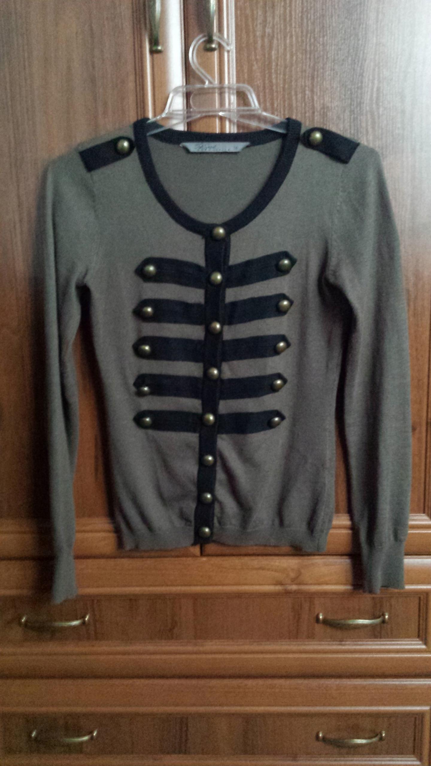 Sweter military khaki pagony TOP SECRET rozm XS