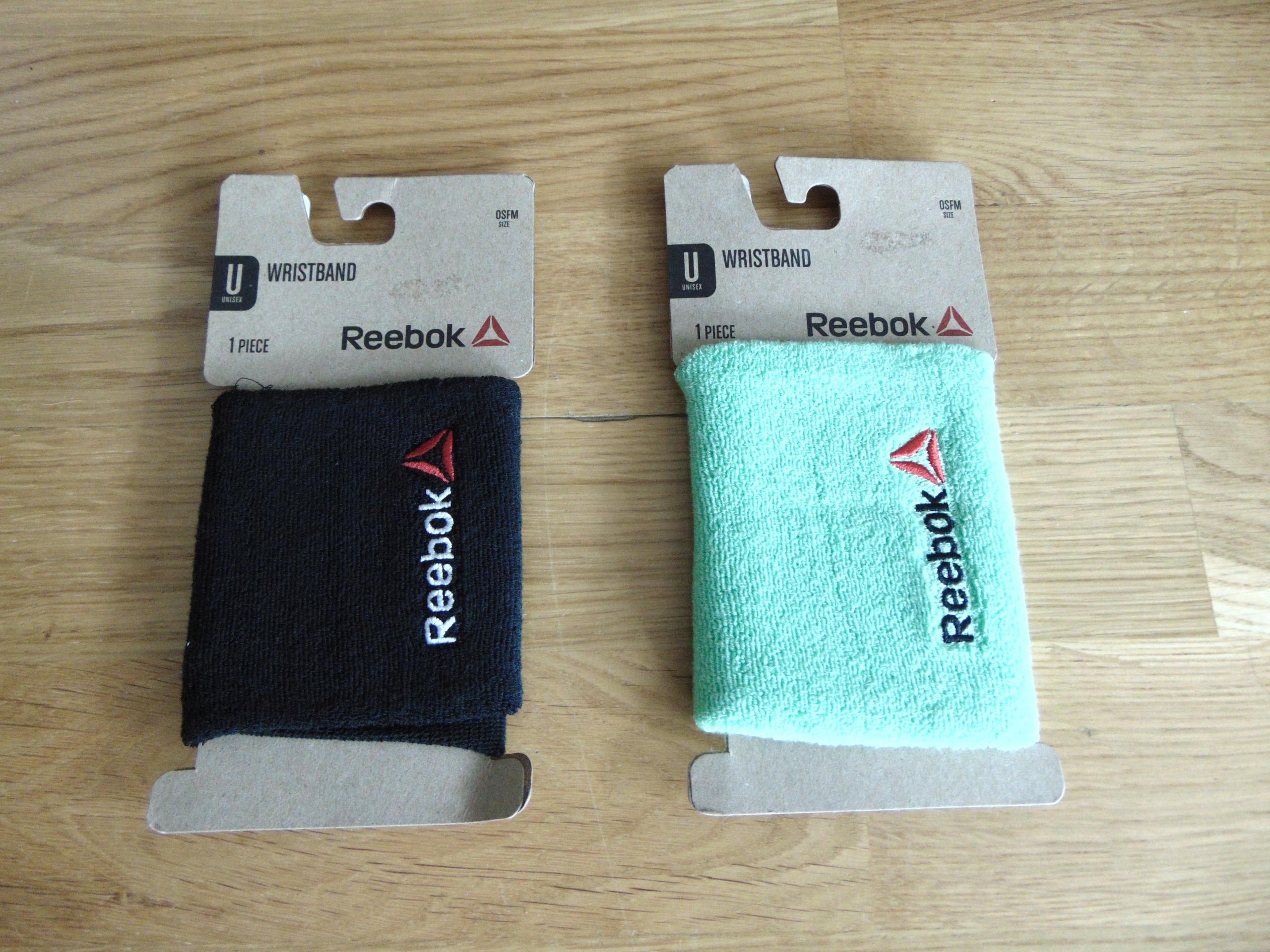 Dwie frotki na rękę Reebok Wristband NOWE