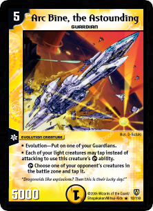 *DM-06 DUEL MASTERS - ARC BINE, THE ASTOUNDING - !