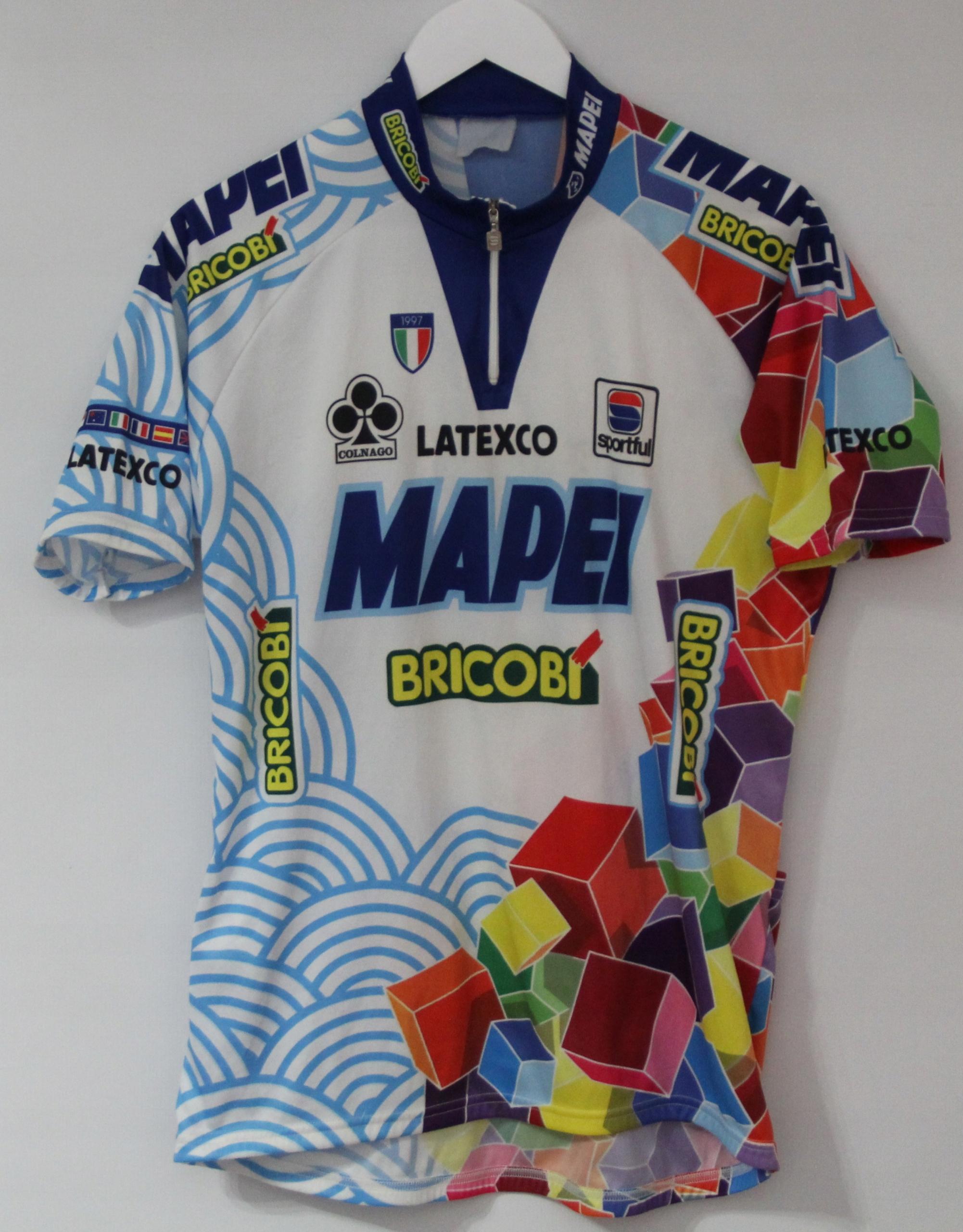 Męska Koszulka Rowerowa COLNAGO MAPEI BRICOBI '97