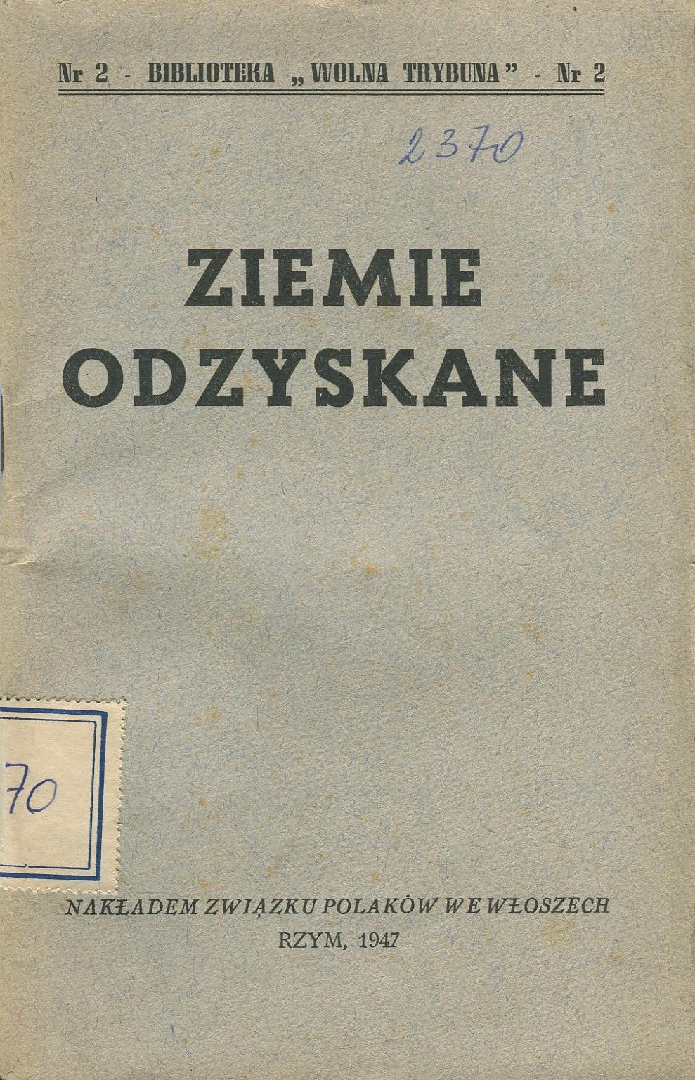 ZIEMIE ODZYSKANE 1947