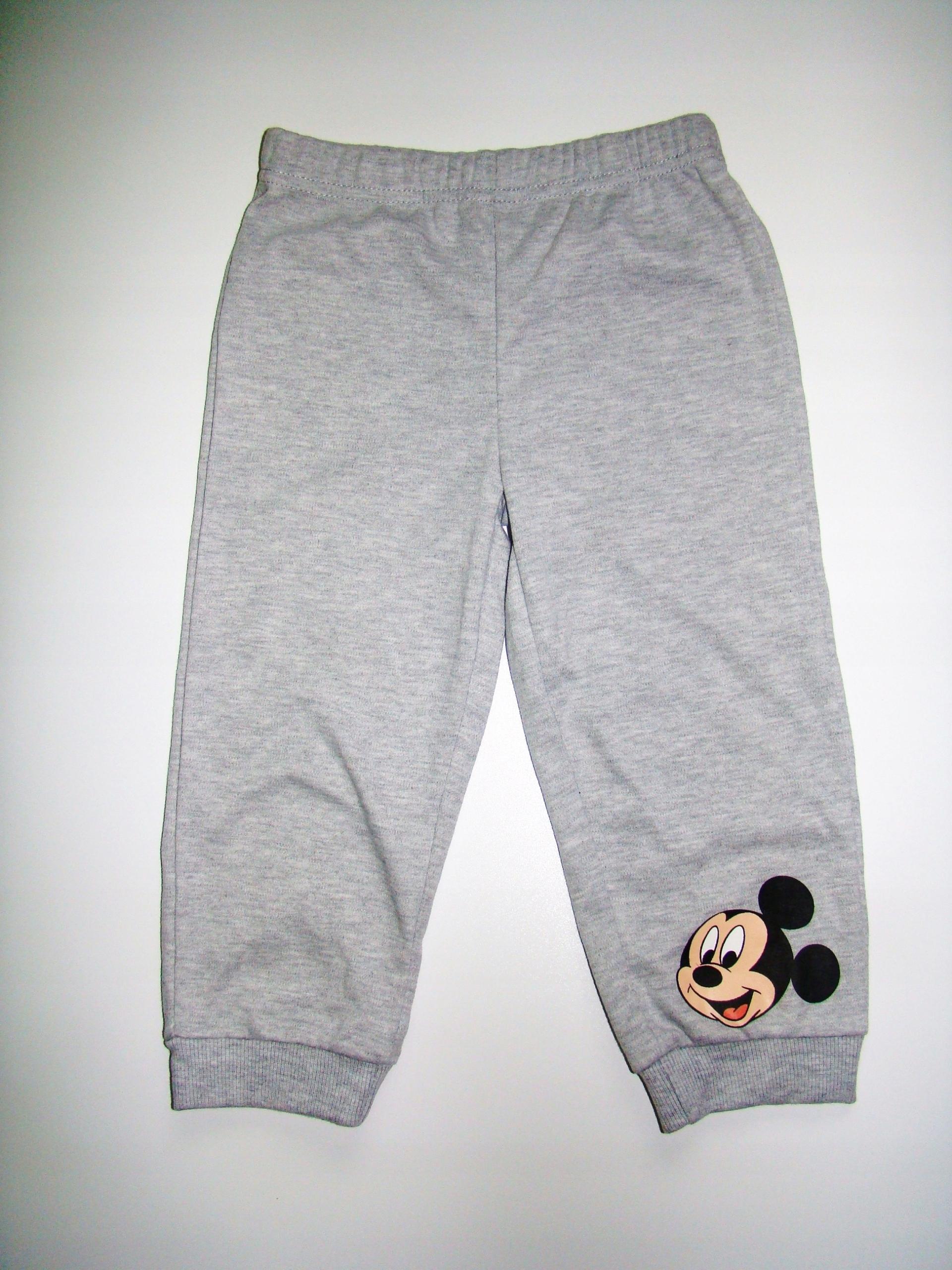 DISNEY spodnie dresowe MICKEY 3-6 m-cy 62-68 cm