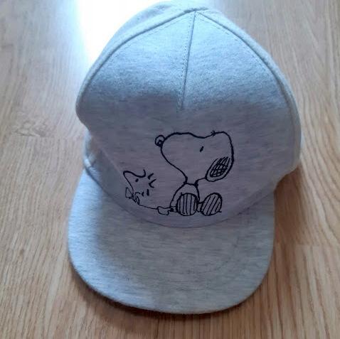 H&m czapka z daszkiem snoopy r.80