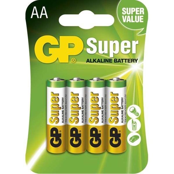 Bateria alkaliczna, AA, 1.5V, GP, blistr, 4-pack,