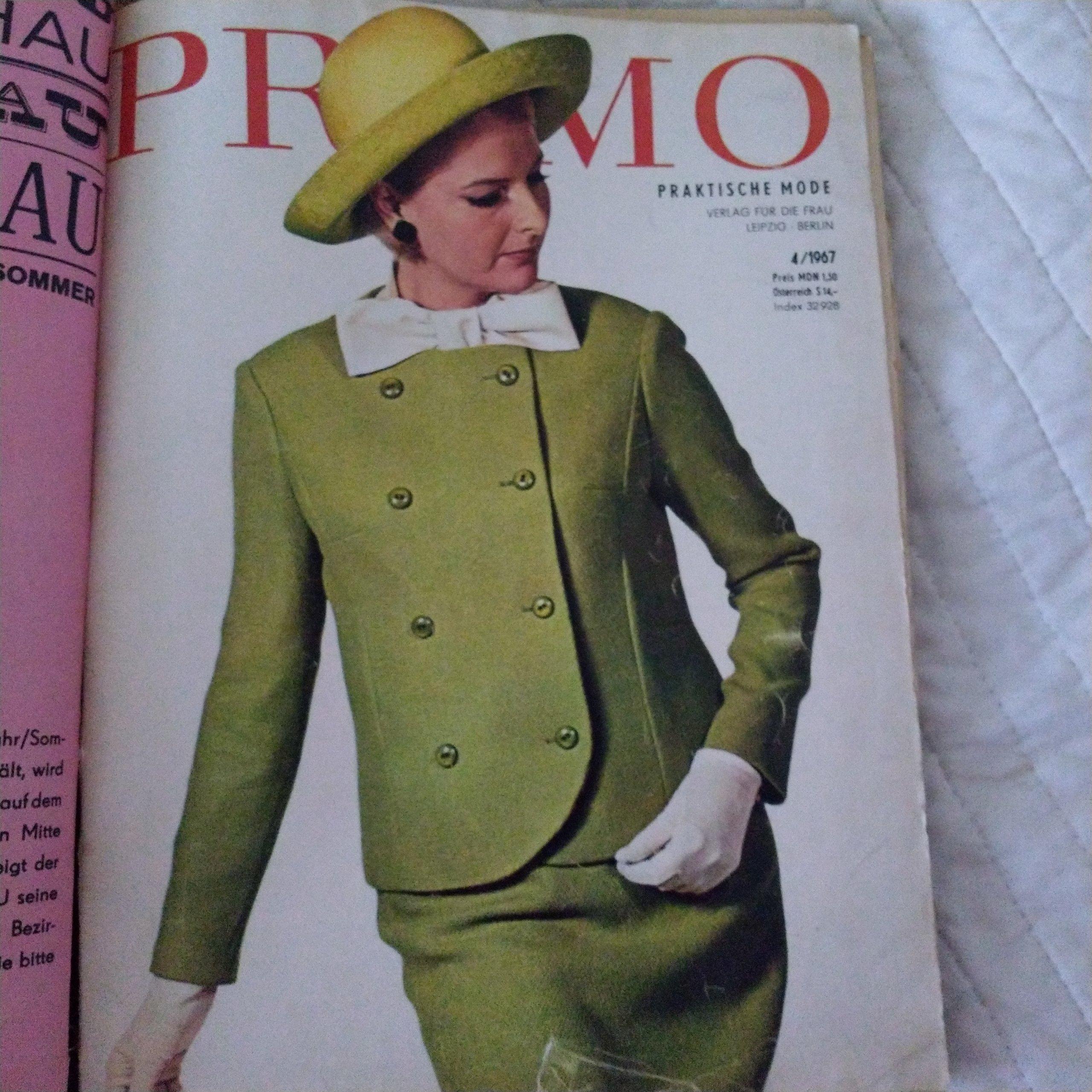 Wykroje,moda PRAMO 1967/68 rok!!!