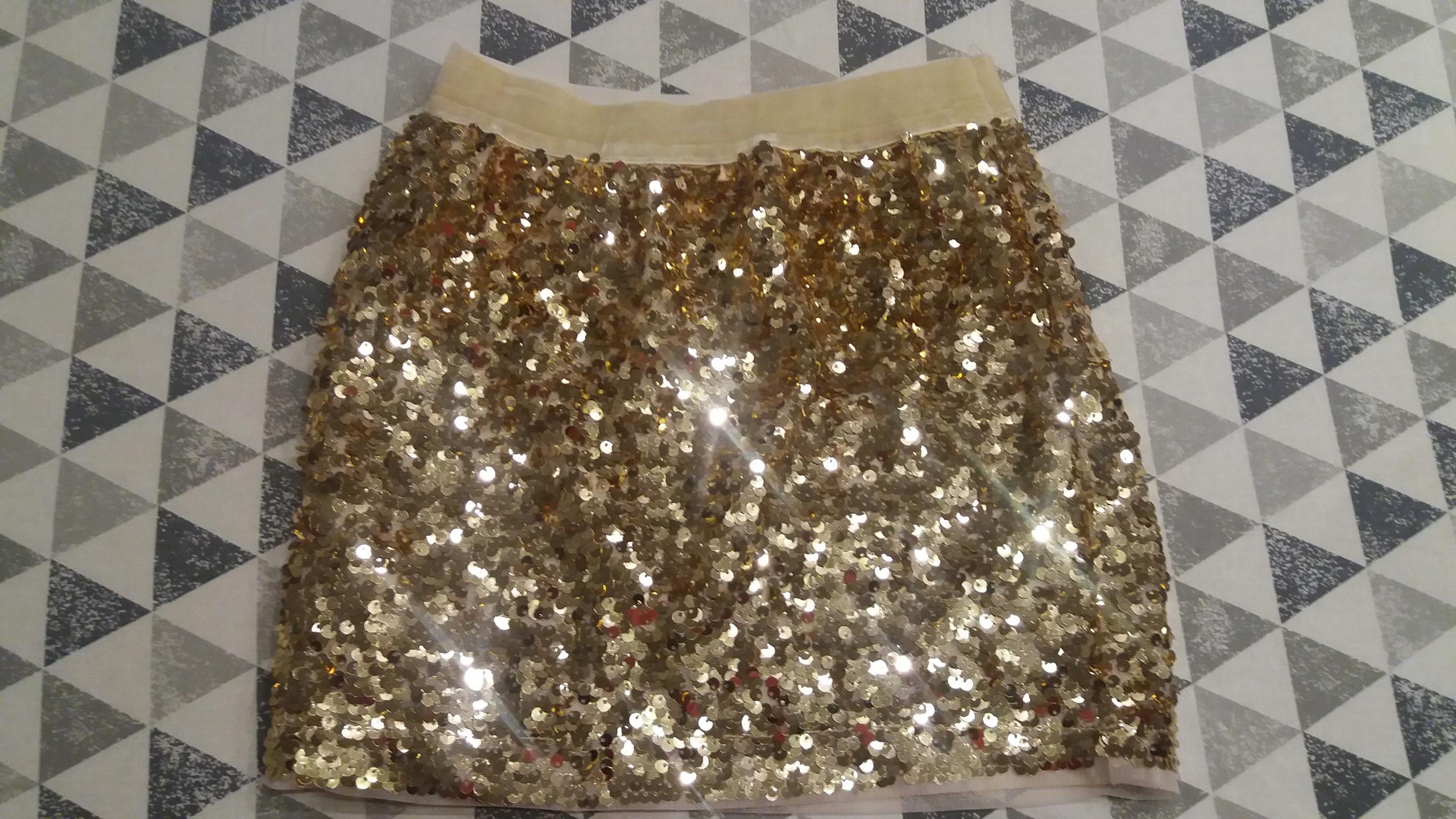 spódnica 110 spódniczka smyk coolclub cekiny złota