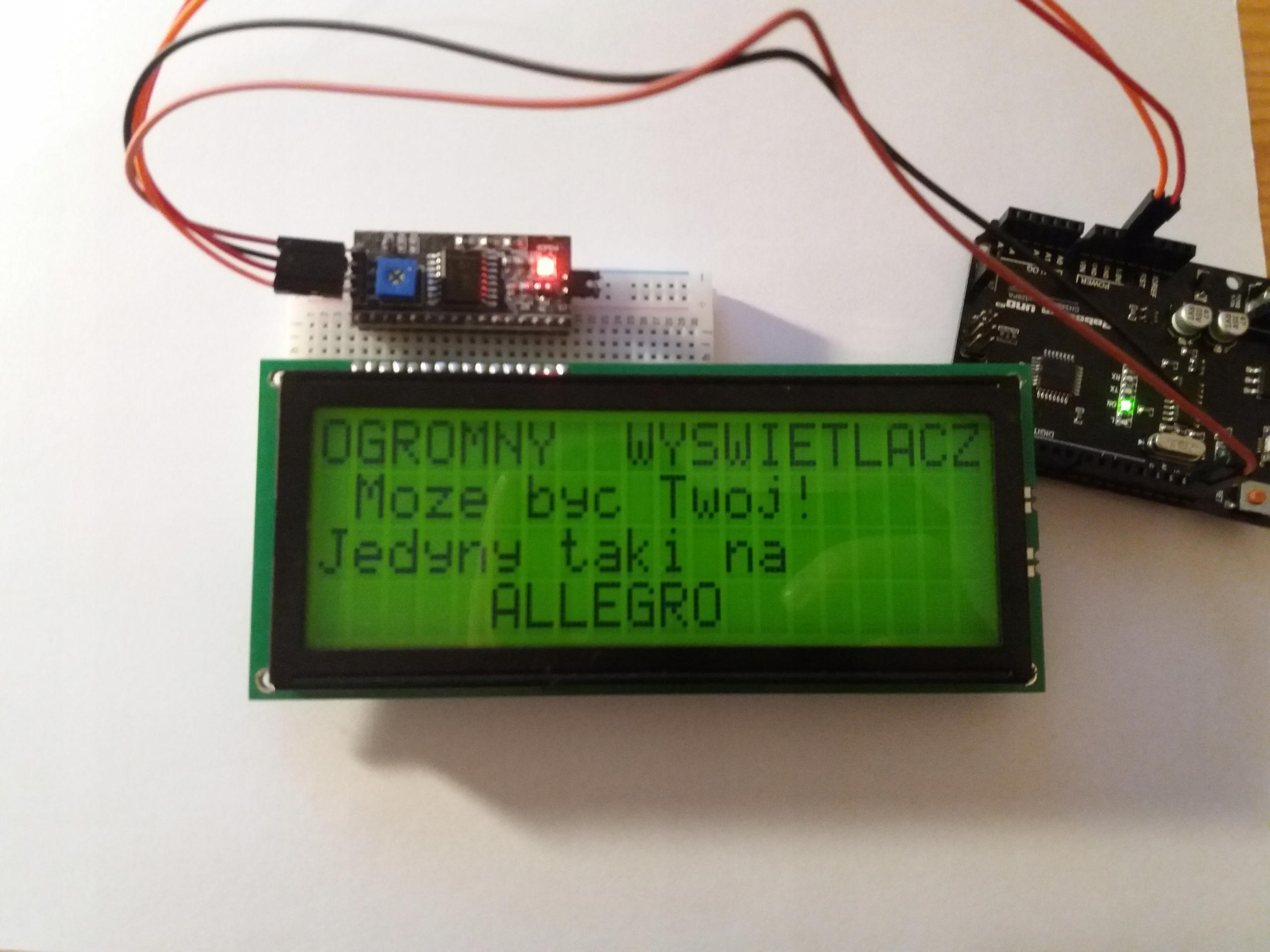 OGROMNY WYŚWIETLACZ LCD DO PROJEKTÓW ARDUINO 4x20