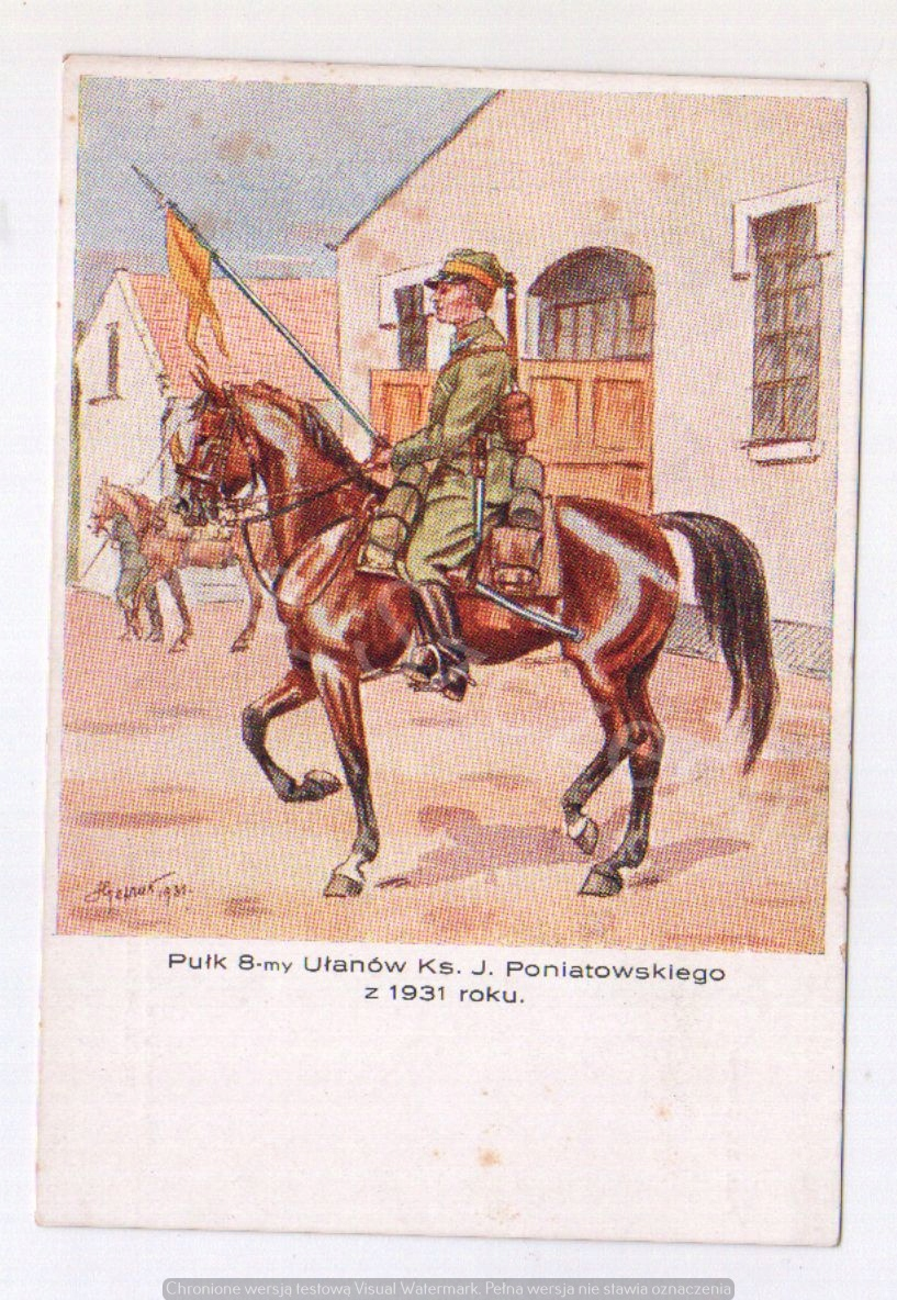 Ułan 8 Pułku Ułanów KS. J. Poniatowskiego 1931r