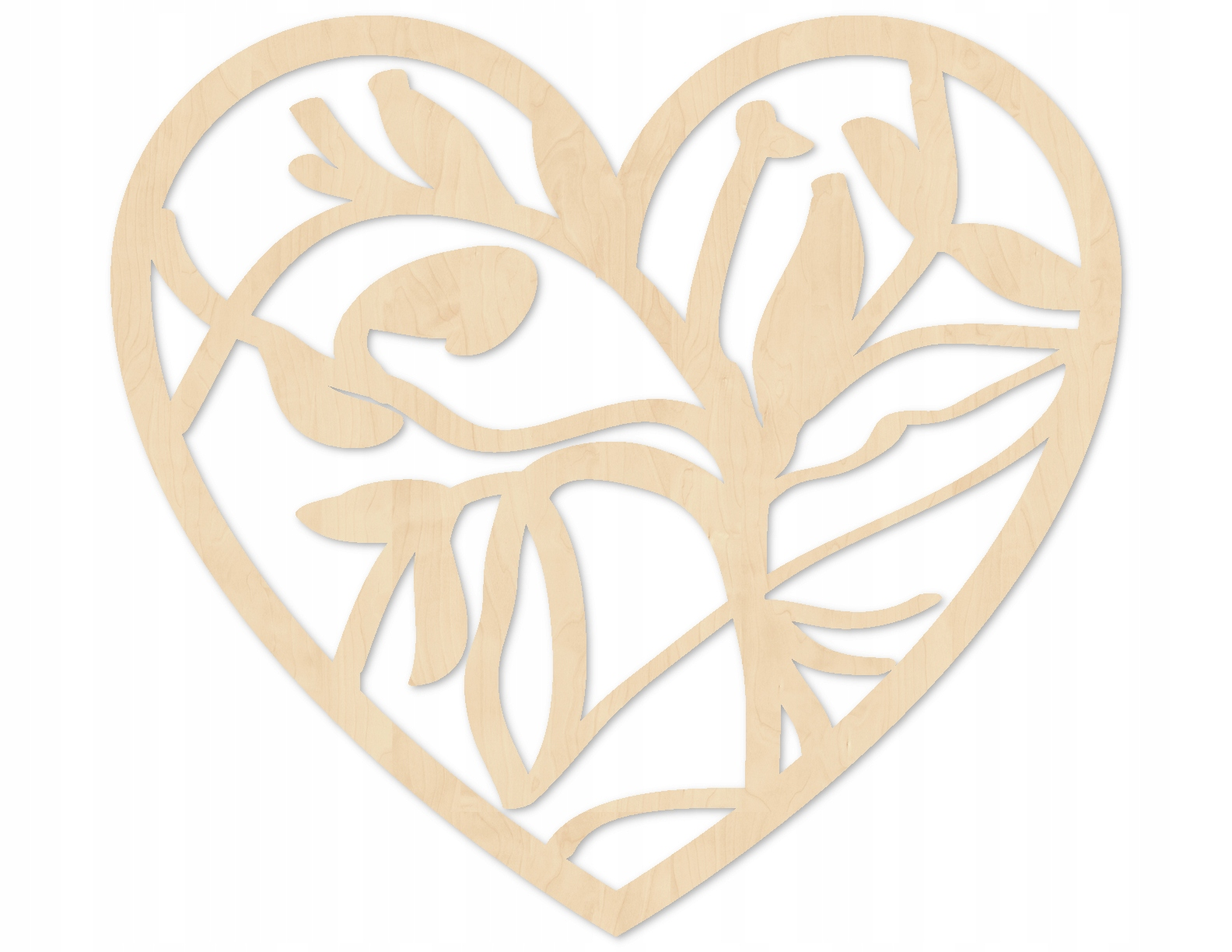 Serce ażurowe 10 cm, drewniane, ażur, decoupage