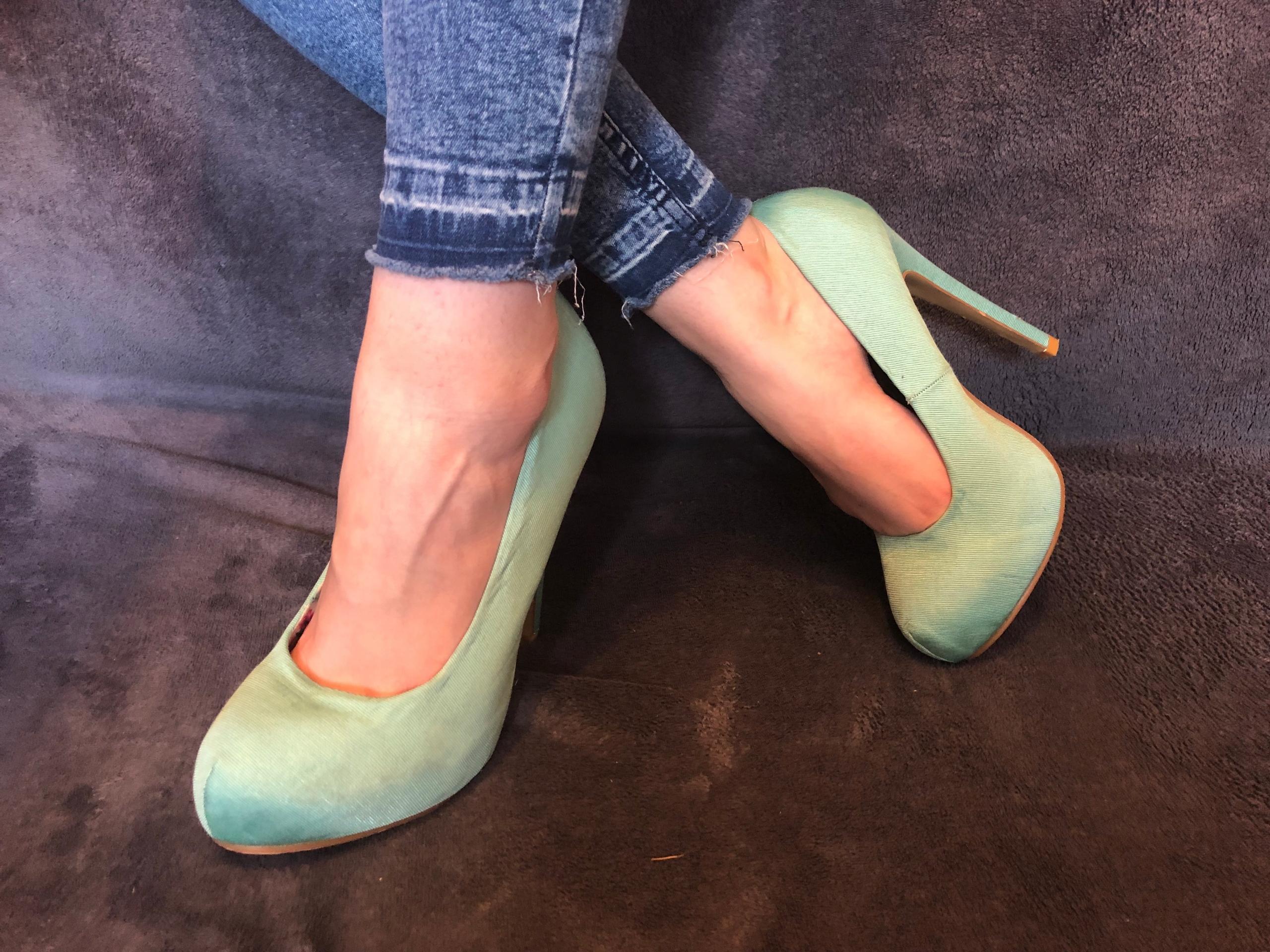Miętowe szpilki buty czółenka Atmosphere 37