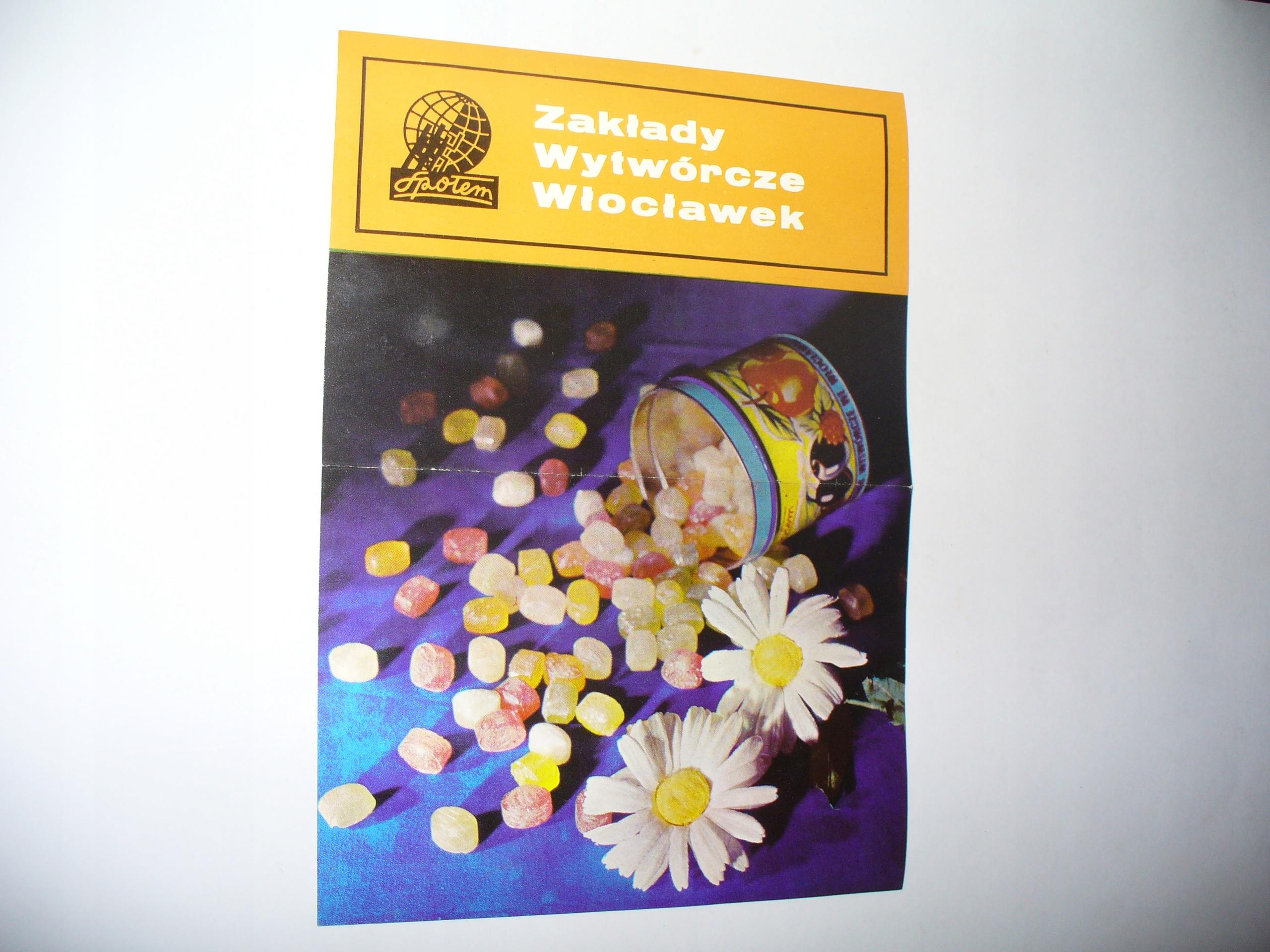 Reklama cukierków Społem z Włocławka  PRL