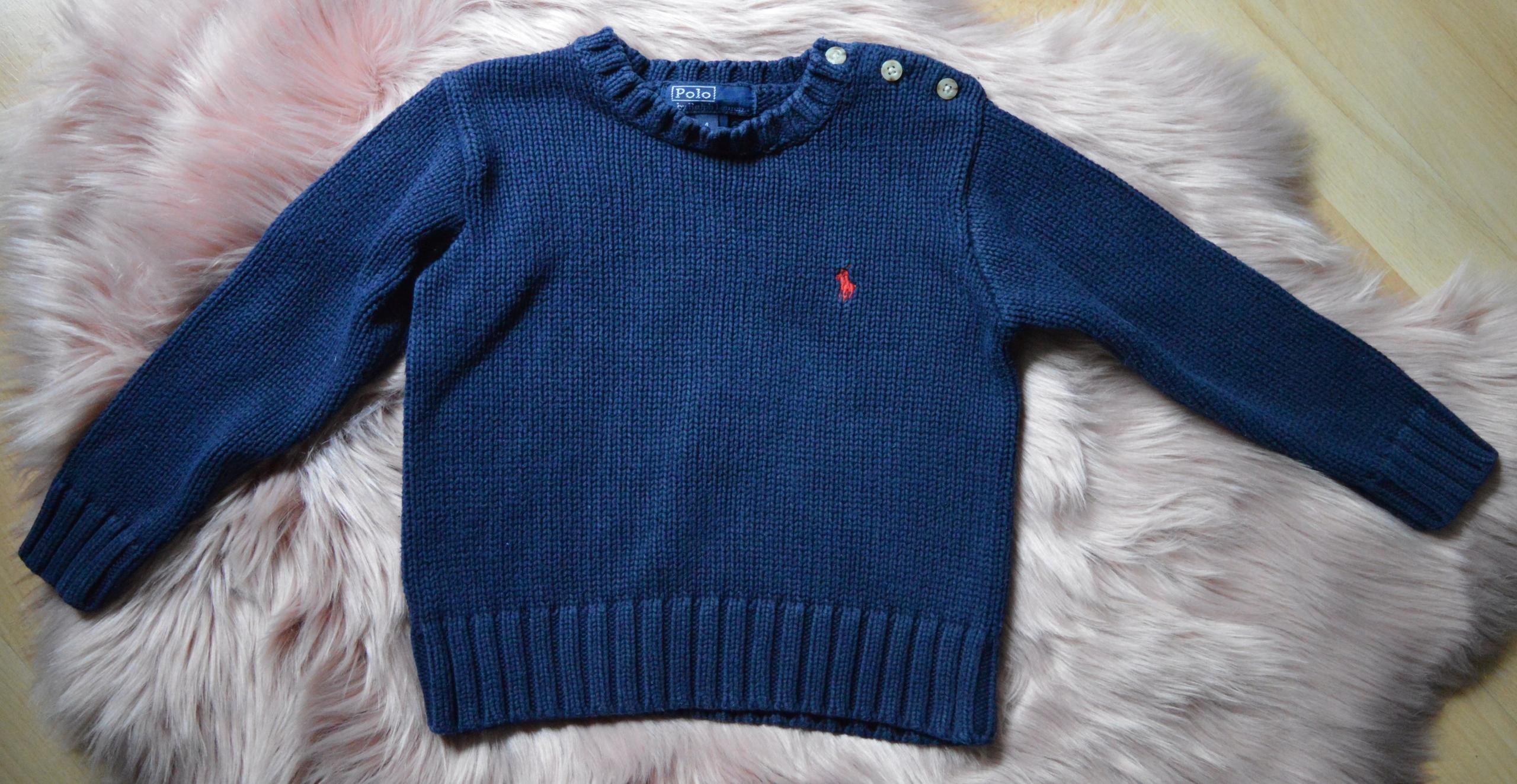 granatowy sweter Ralph Lauren 4 lata 104cm