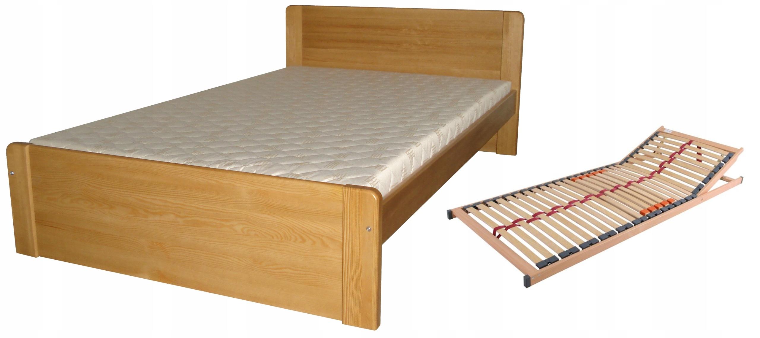 łóżko 90x200 Dla Seniora Regulowany Stelaż Wysokie