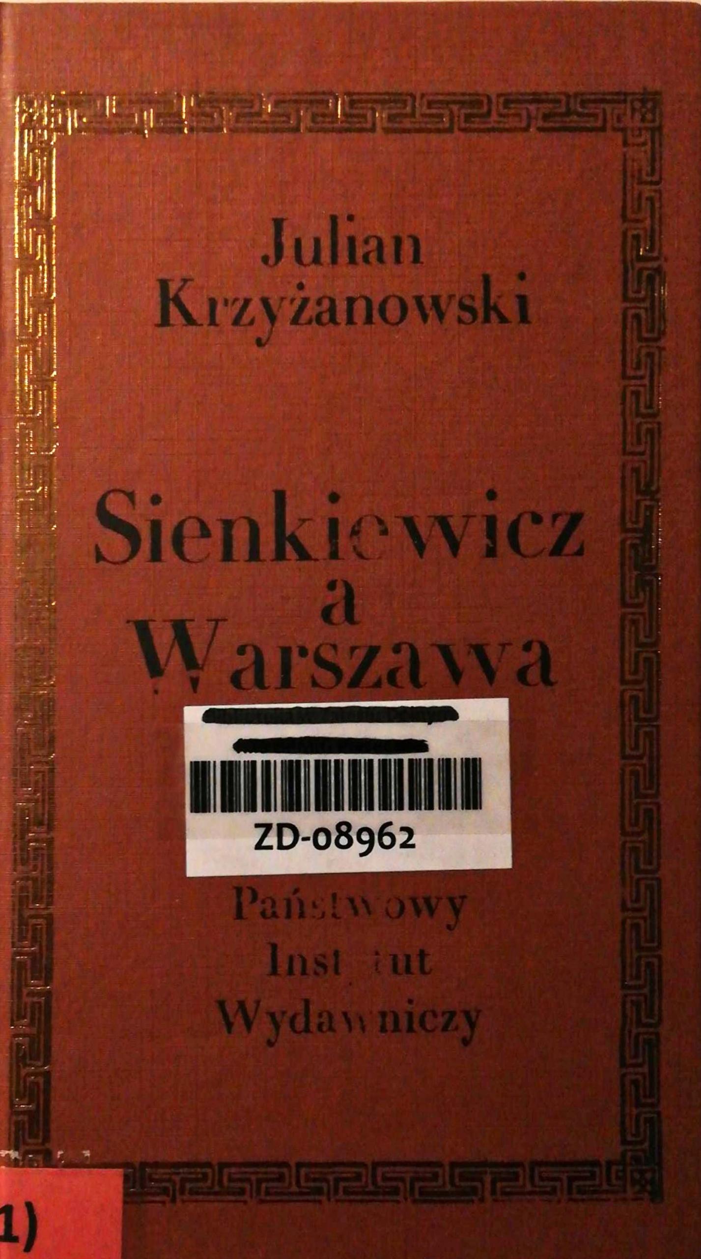 Sienkiewicz a Warszawa - Krzyżanowski
