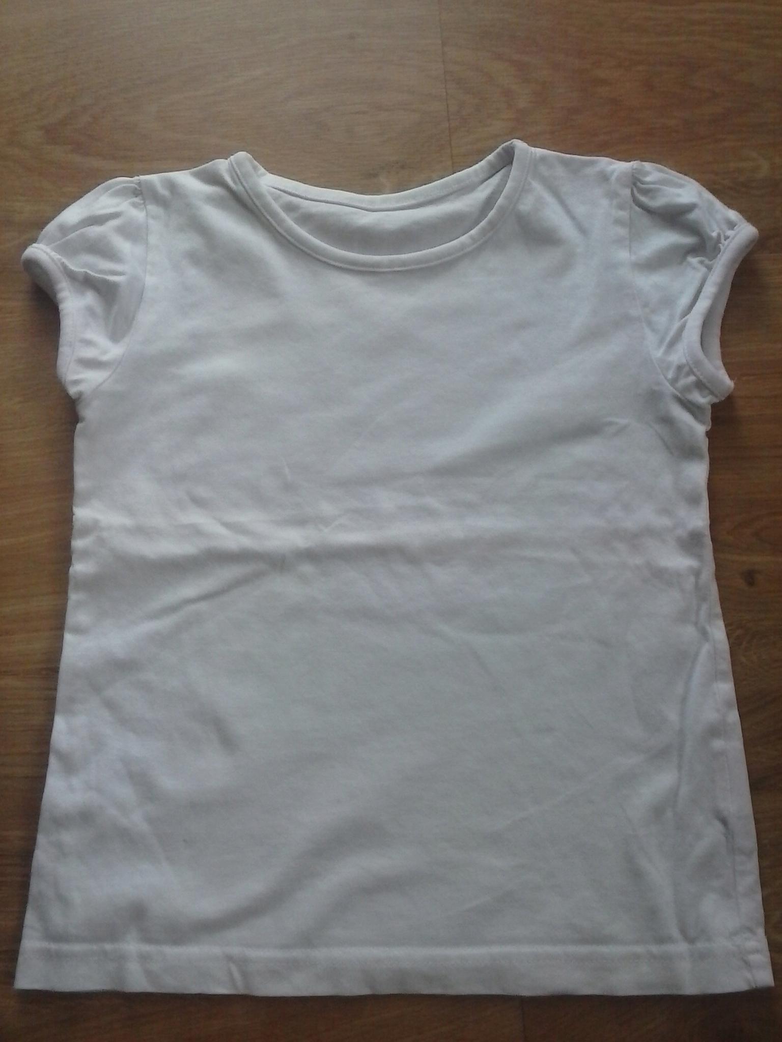 biały T-shirt , bluzka rozm 116)122