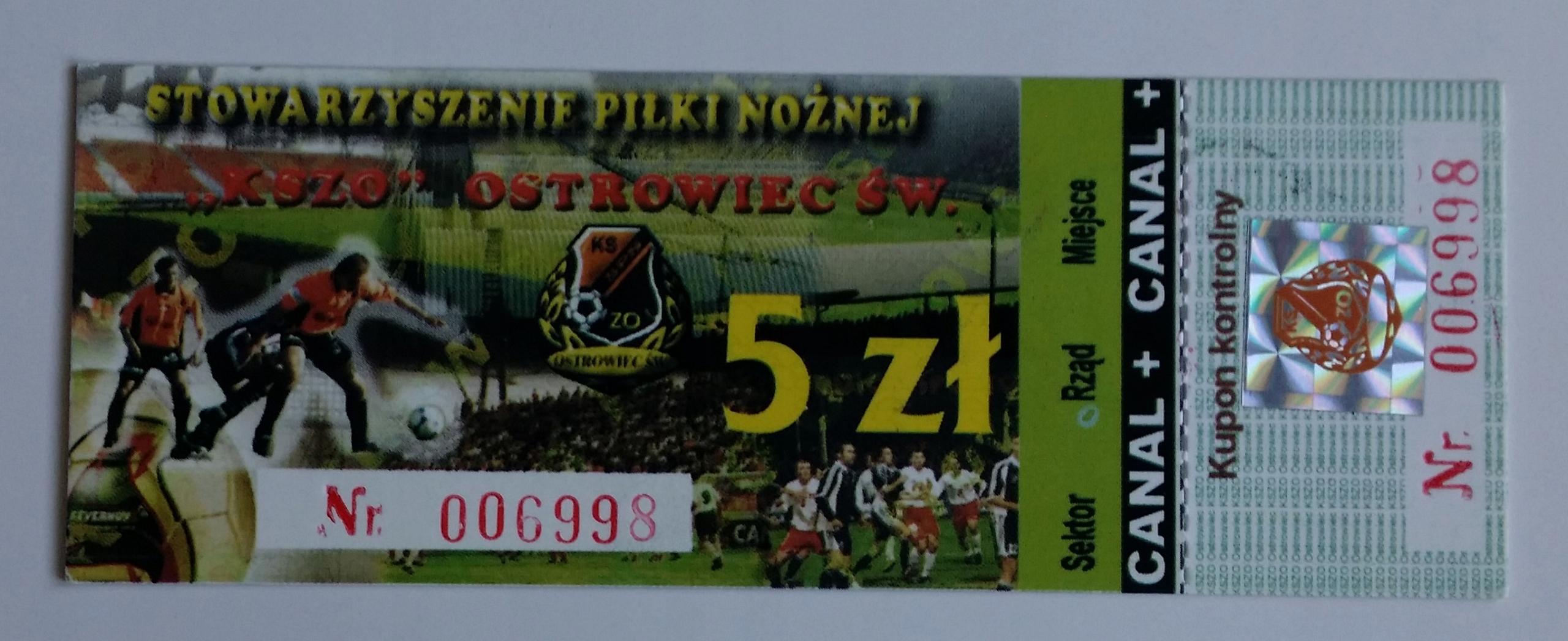 Bilet KSZO Ostrowiec Św.