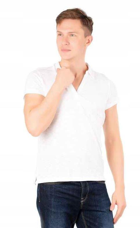 H&M Koszulka Polo w serek TIGHT FIT S