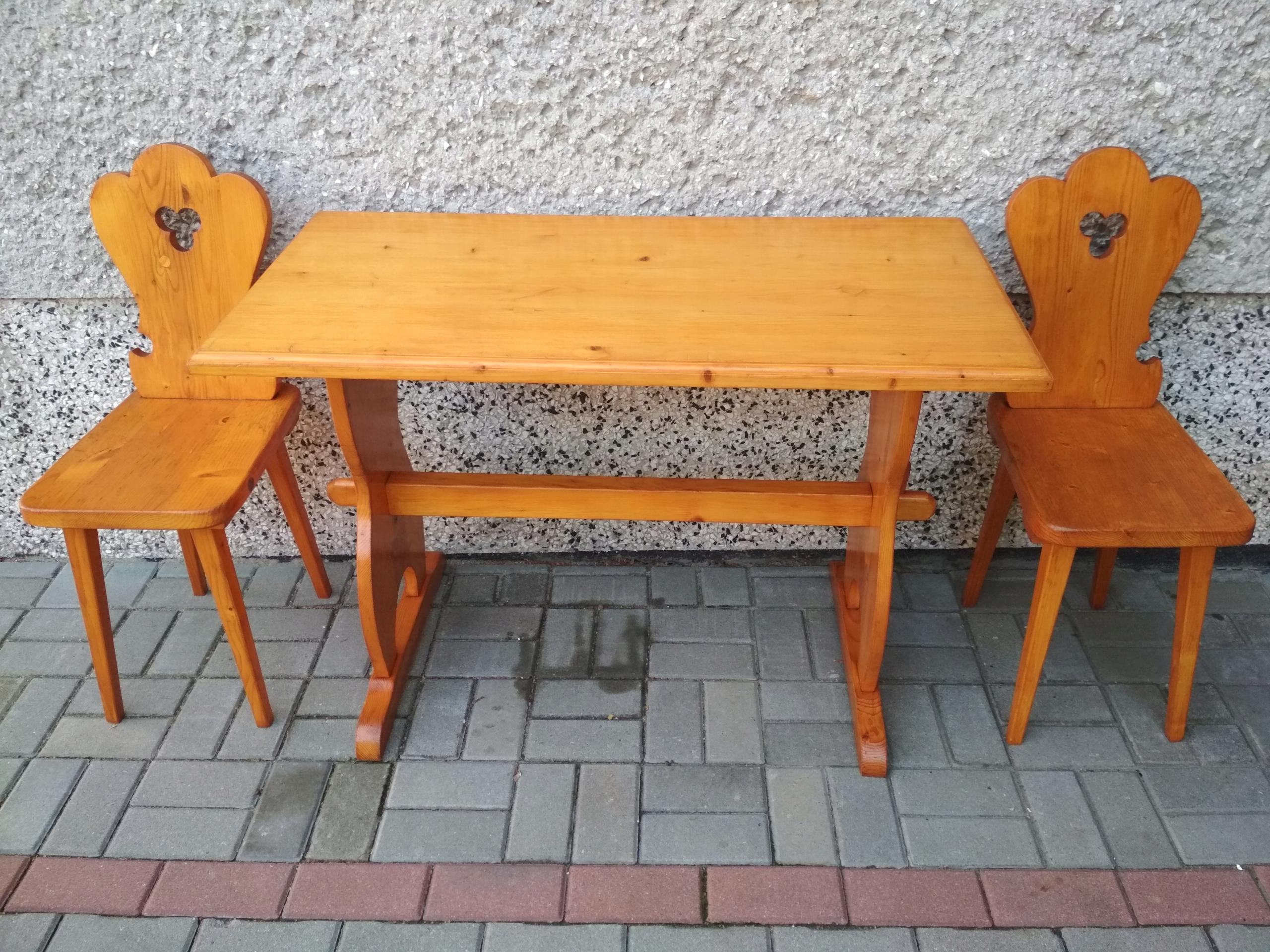 Ogromnie Ława stół góralski + stołki krzesła zydle - 7685157234 - oficjalne WT68
