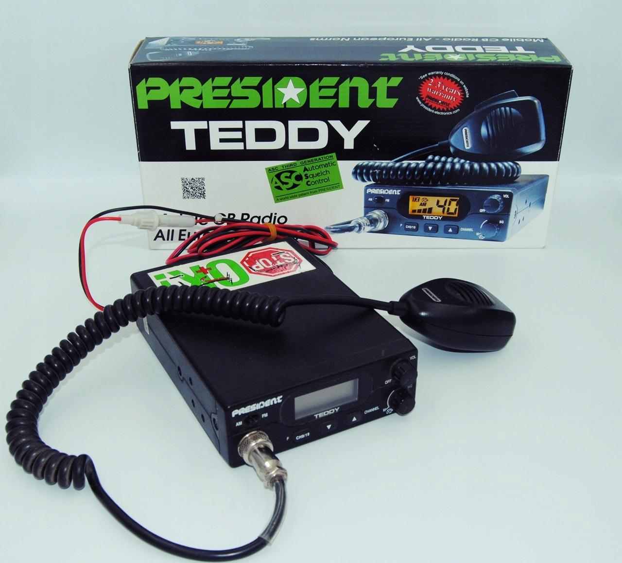 CB Radio President TEDDY ASC + antena
