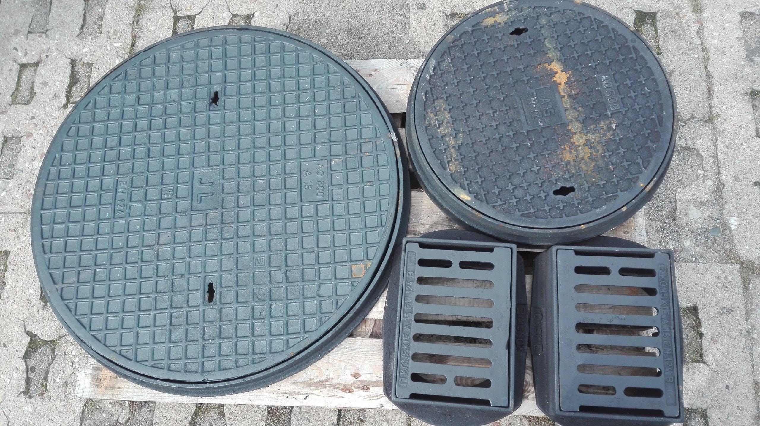 Właz Żeliwny OP 800 A15 H50 OKRĄGŁY pokrywa studni