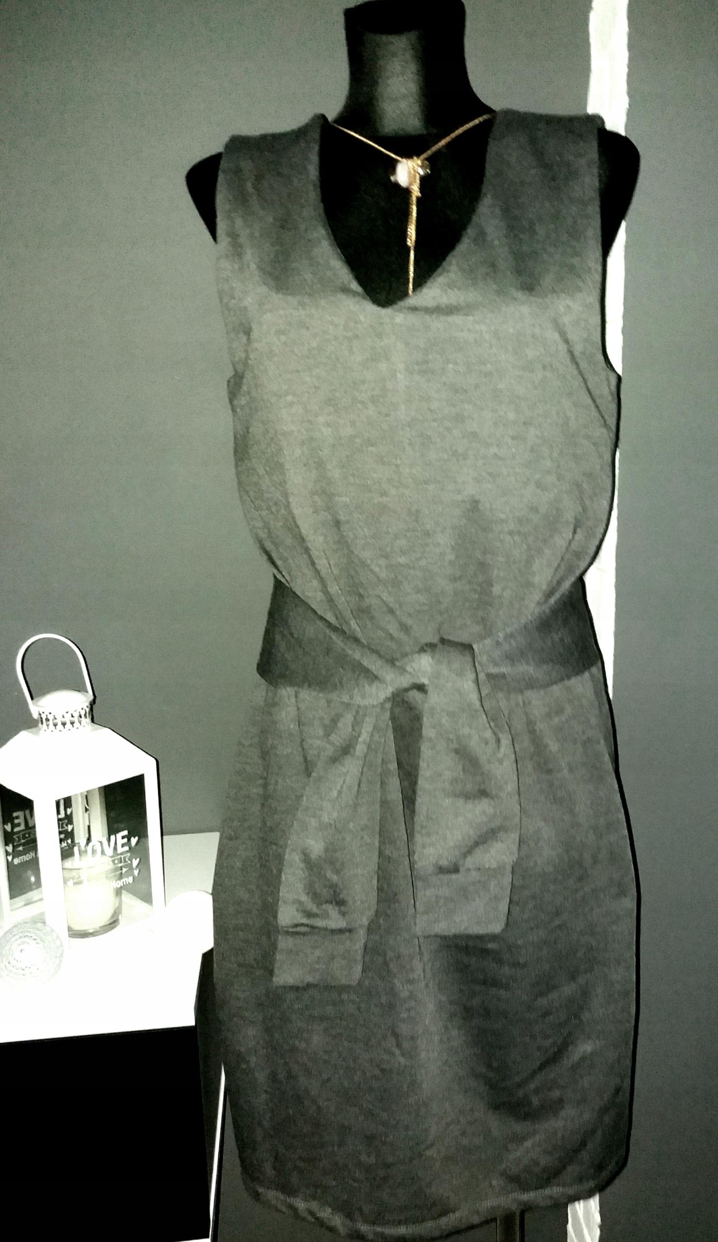 649feb24f0 WOMAN szara dresowa sukienka dzianina bluza 40 42 - 7504053885 ...