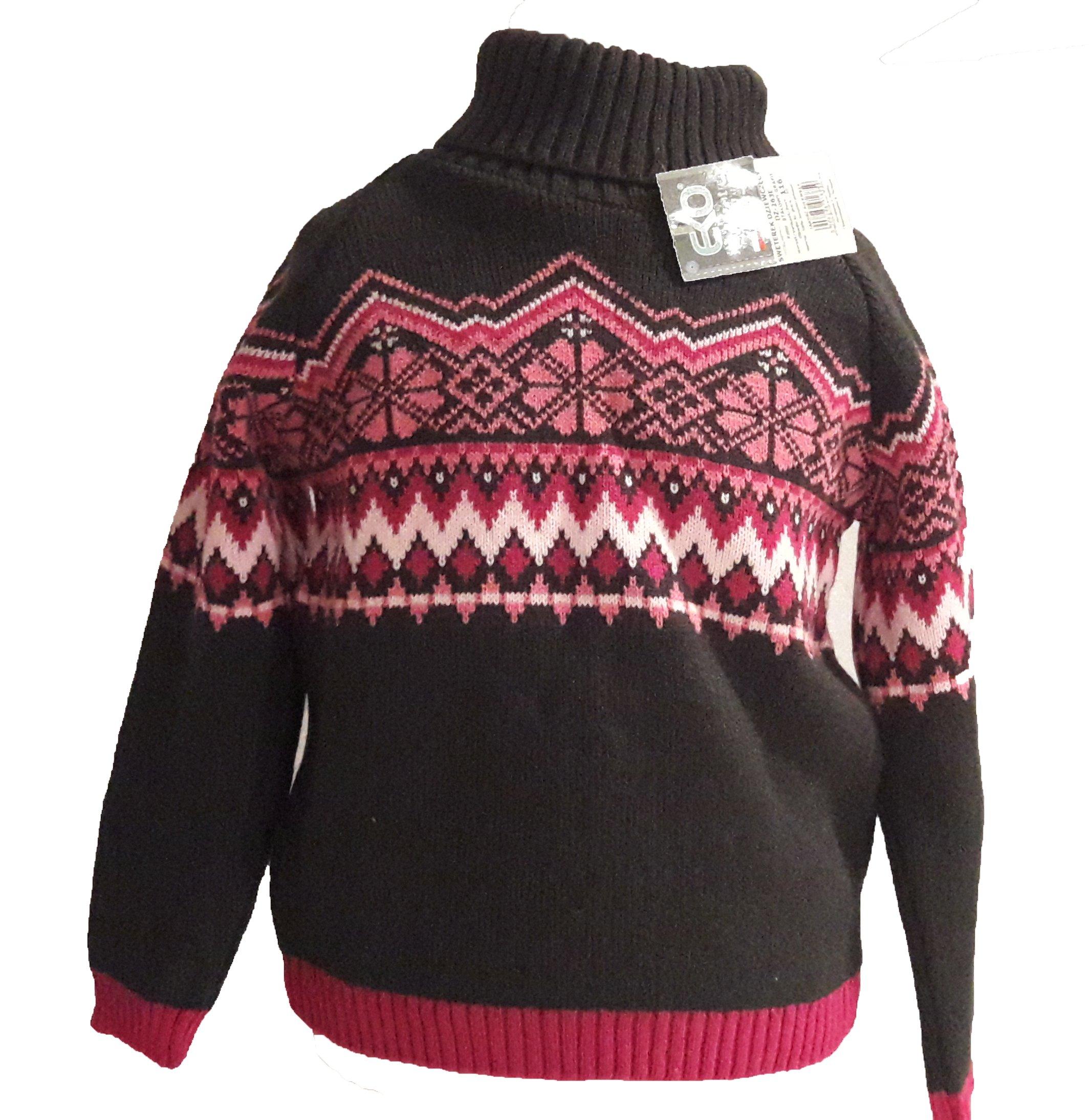 Swetr sweterek golf dla dziewczynki 116