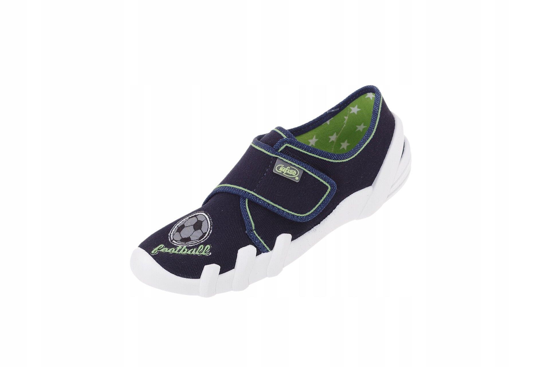 Pantofle Befado 273Y247 kapcie szkolne piłka 34