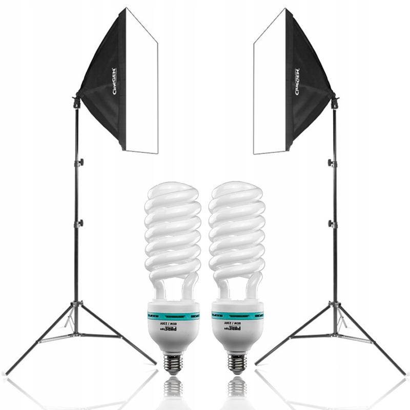 Zestaw fotograficzny 2x softbox 40x40 1200W JASNY