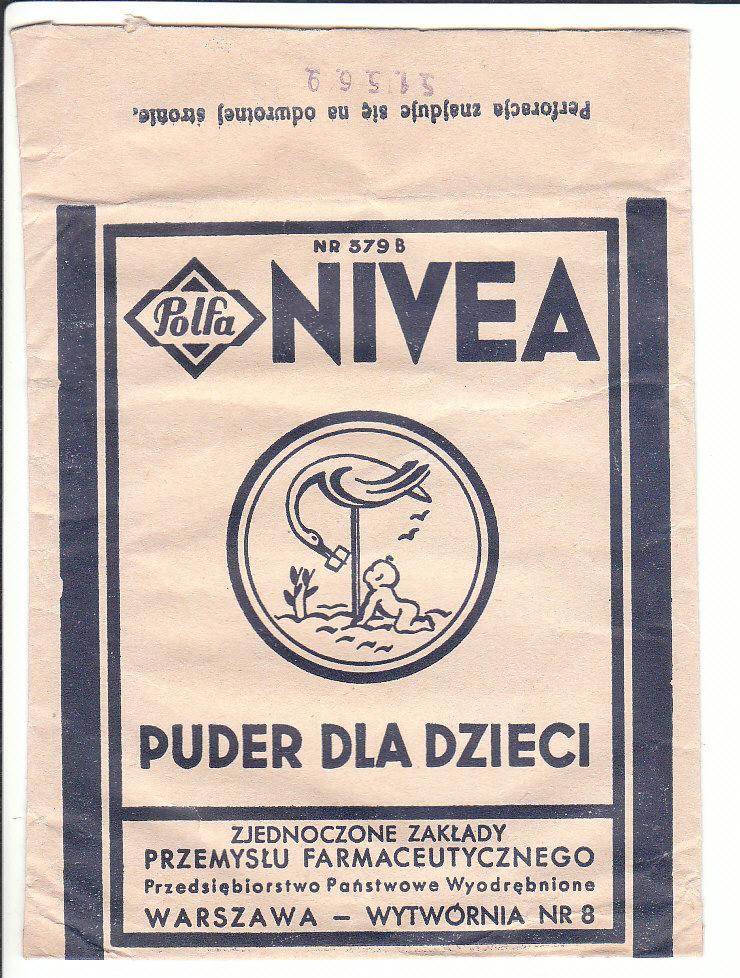 Opakowanie Polfa NIVEA Puder dla dzieci Warszawa