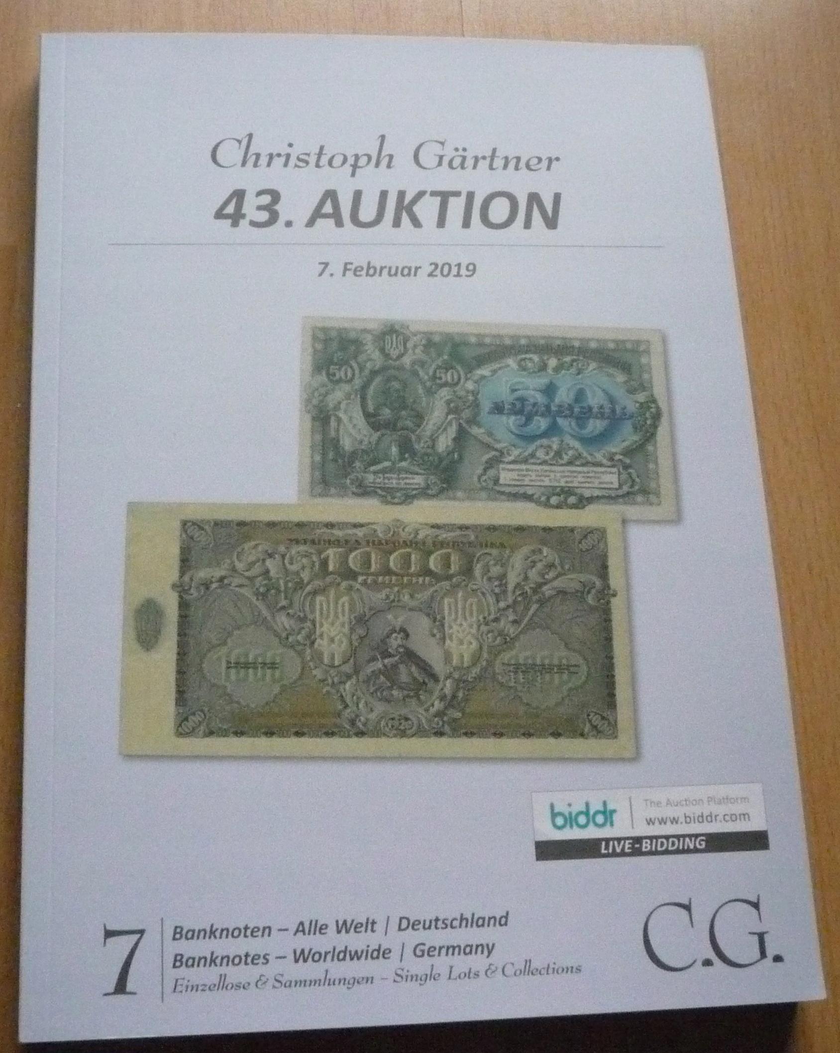 Katalog Aukcyjny - Banknoty 2019 - K53