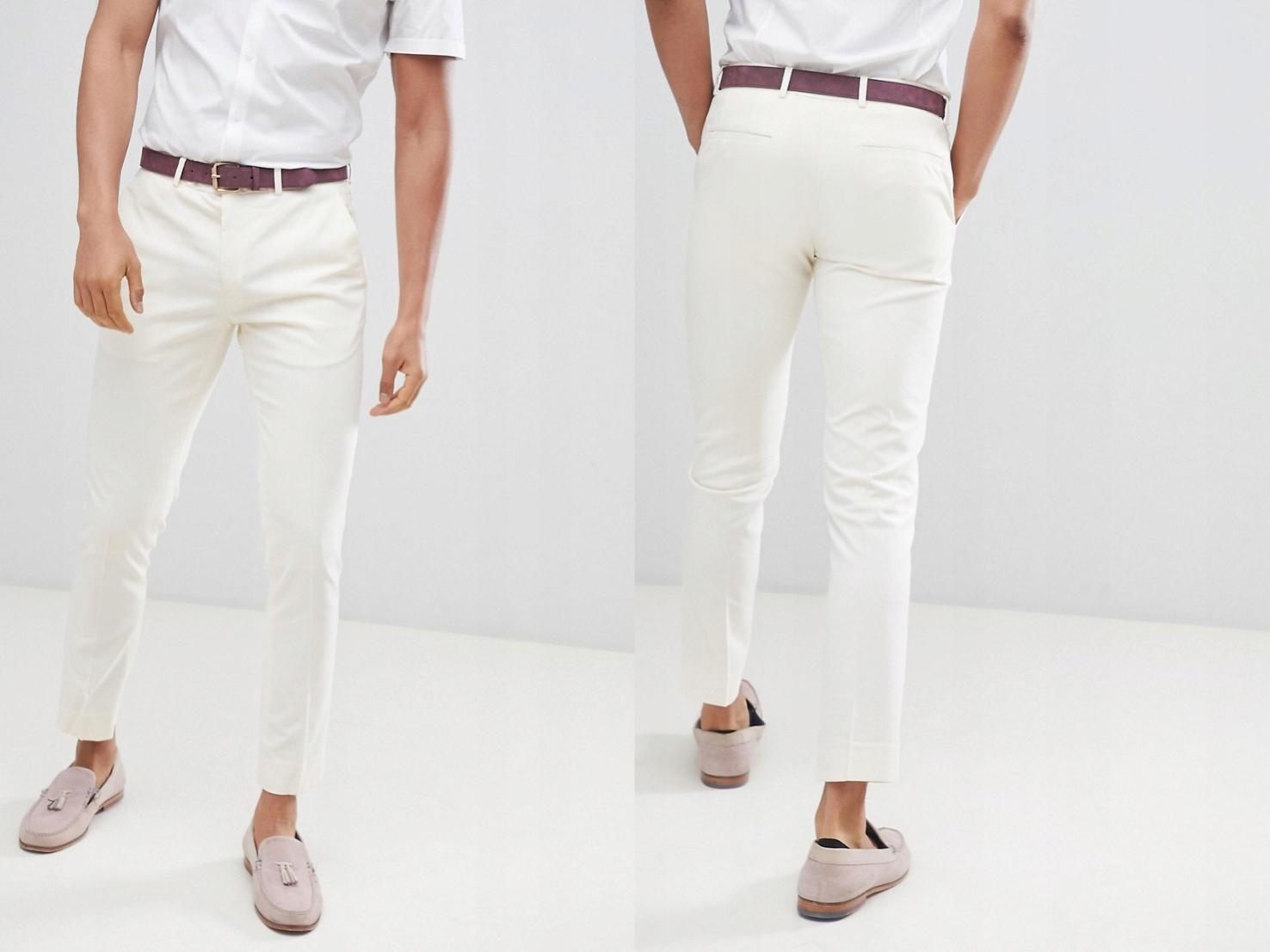 River Island spodnie w kolorze kremowym 32/34