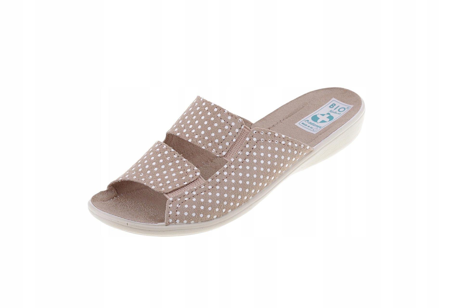 Klapki Adanex 22862 pantofle z gumką kapcie r. 36