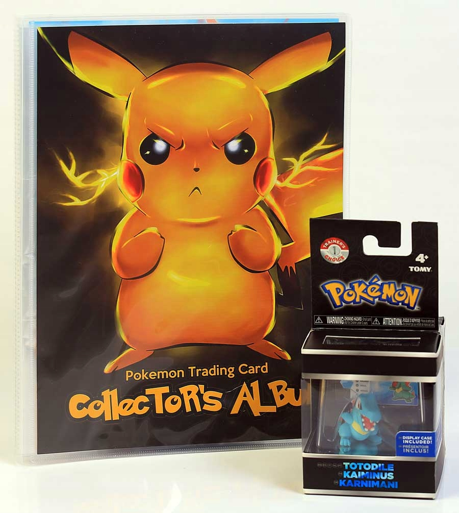 POKEMON ALBUM NA KARTY + Figurka PIKACHU TOMY