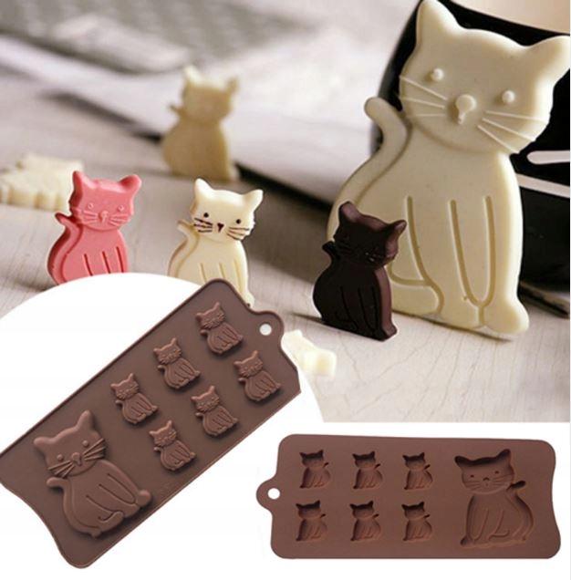 forma silikonowa czekolada masa cukrowa KOT KOTY