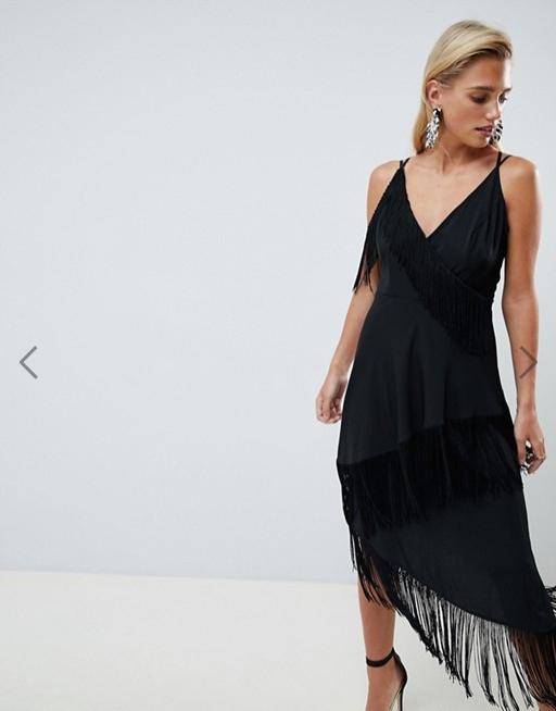 Sukienka ASOS 40 FRĘDZLE nowość