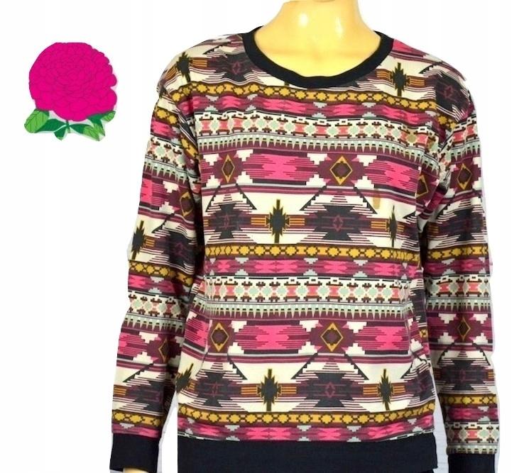 Bluza azteckie wzory bawełna boho hippie S M 36 38