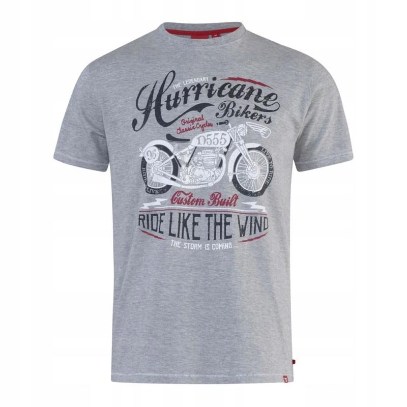 DAYTON-D555 Duży T-shirt Szary 6XL