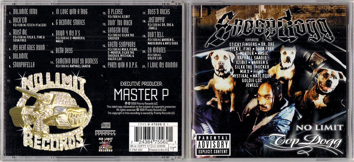 SNOOP DOGG - NO LIMIT TOP DOGG [CD] - 7409800037 - oficjalne