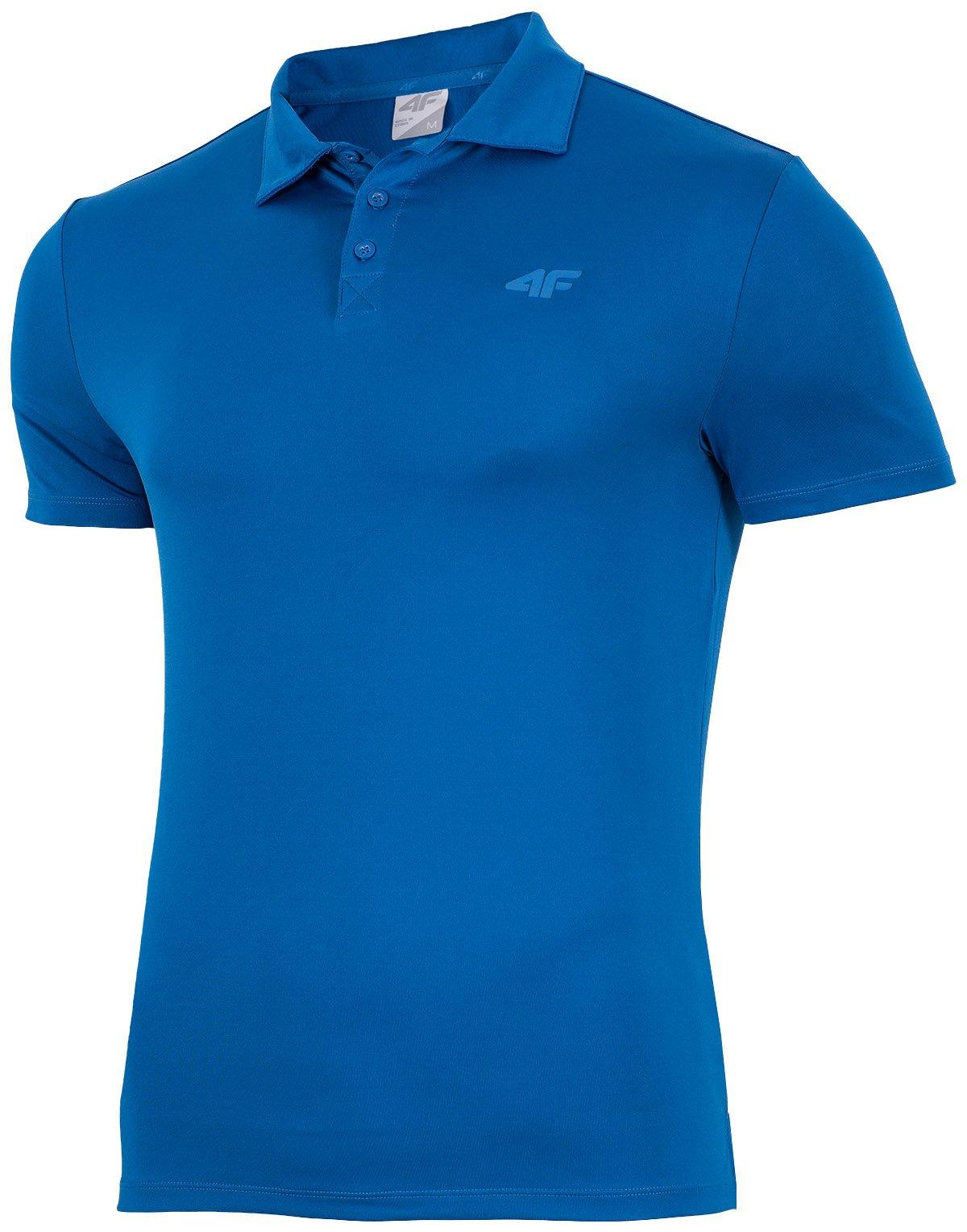 Męska koszulka t-shirt 4F L17-TSMF004 niebieski S