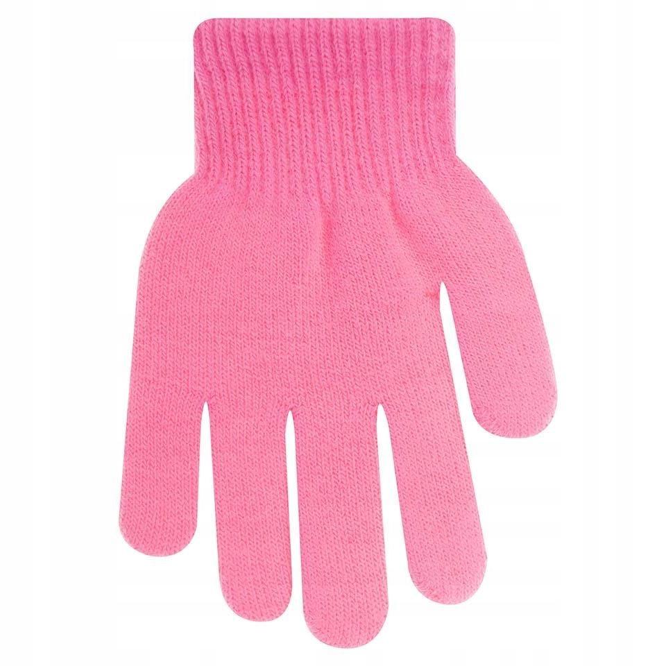 Rękawiczki ocieplane różowe 12 cm